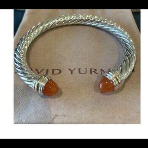 David Yurman 7mm Carnelian Bracelet 💕